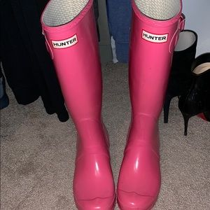 Shoes - Pink hunter boots